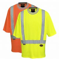 women's hi-viz poly/cotton drop stitch hi-viz t-shirt