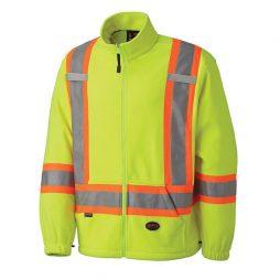 fleece hi-viz jacket