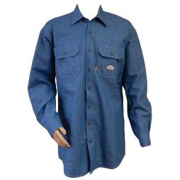 blue chambray fr work shirt