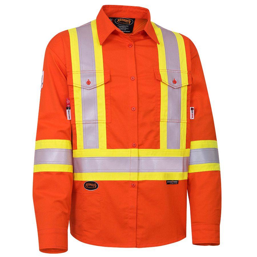 b17585282ac FR-Tech® Flame Resistant 7 oz Hi-Viz Safety Shirt - Direct Workwear