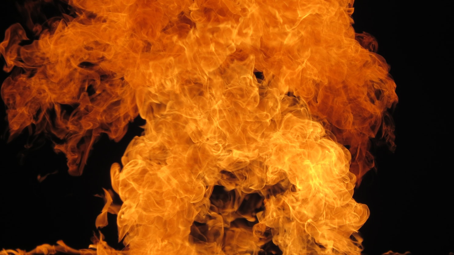 Large Fire blast from work place hazards