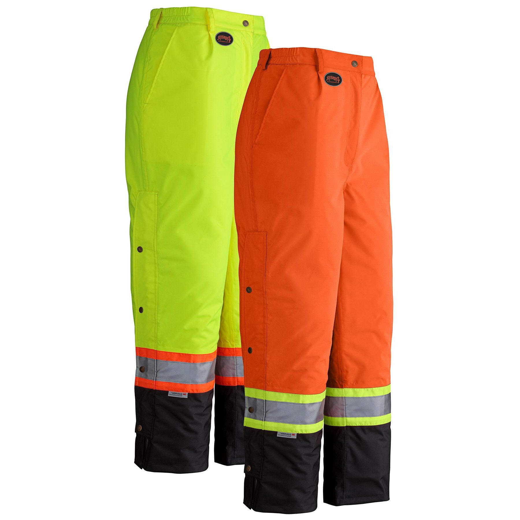 Waterproof insulated hi visibility workwear pants