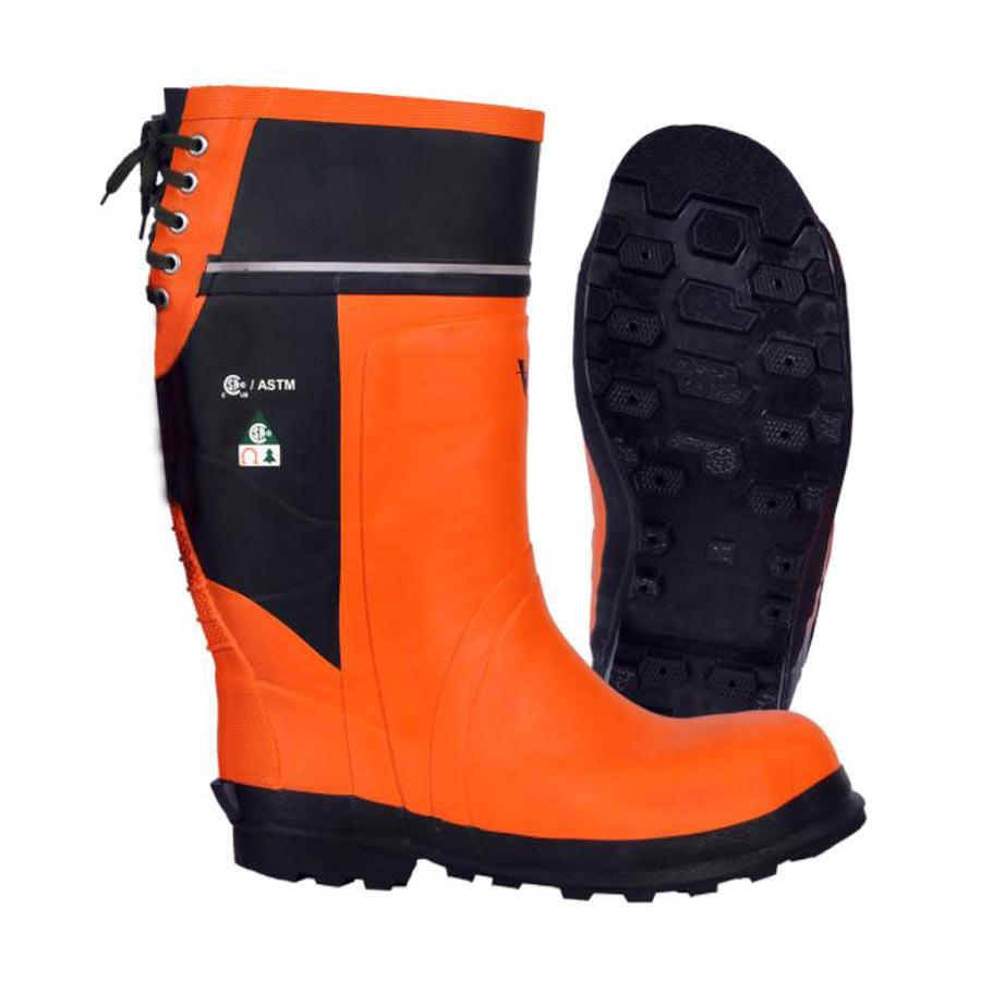 Viking Timberwolf Chainsaw boot in orange