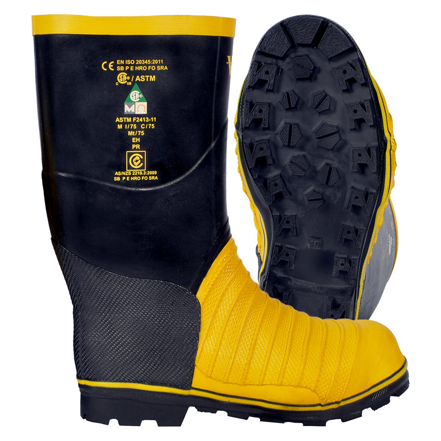 Viking Miner 49er Black and yellow non FR steel toed work boot