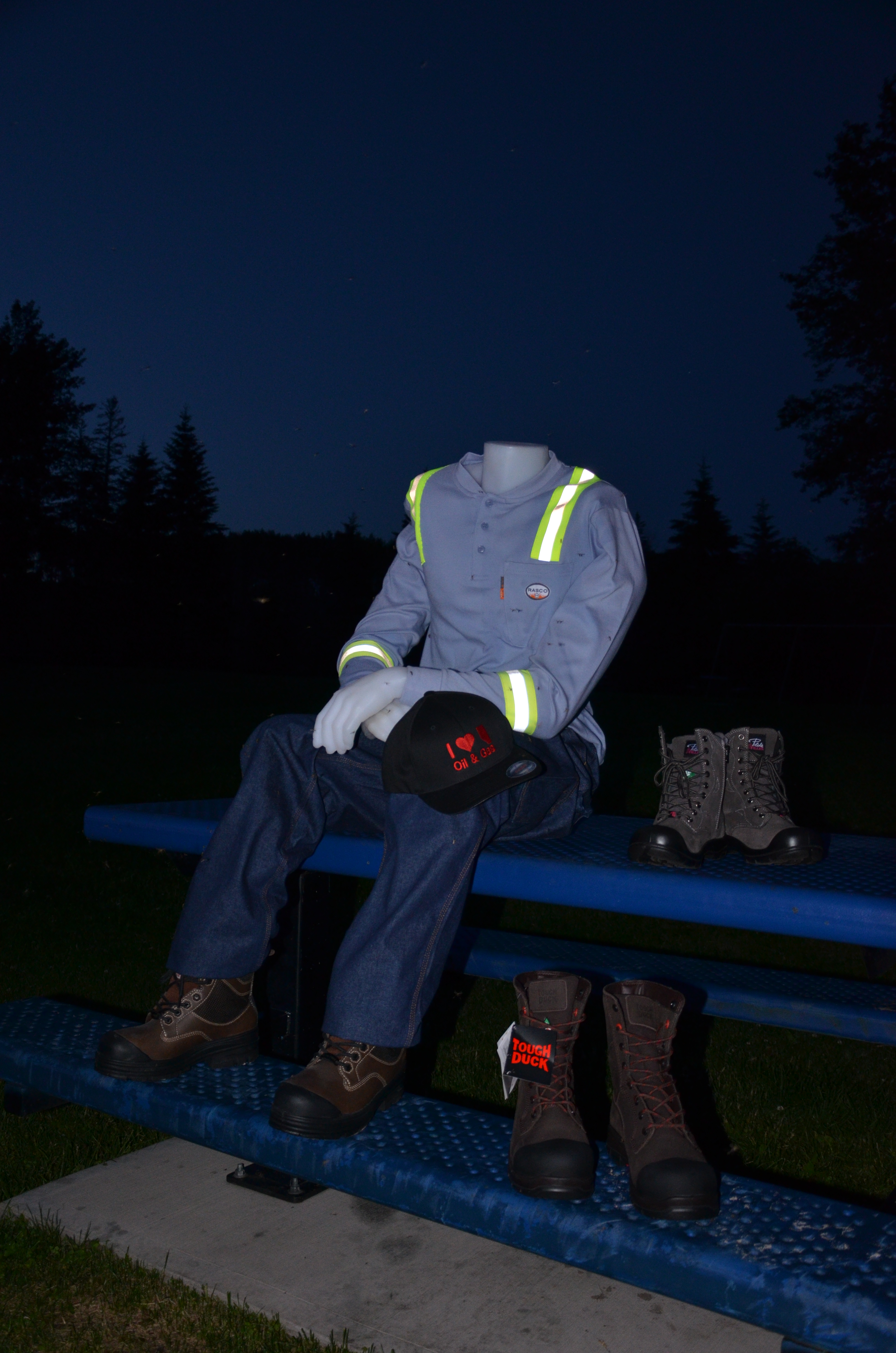 Direct Workwear Mannequin wearing safety gear