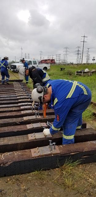 Edmonton Rail worker wearing Direct Workwear merchandise